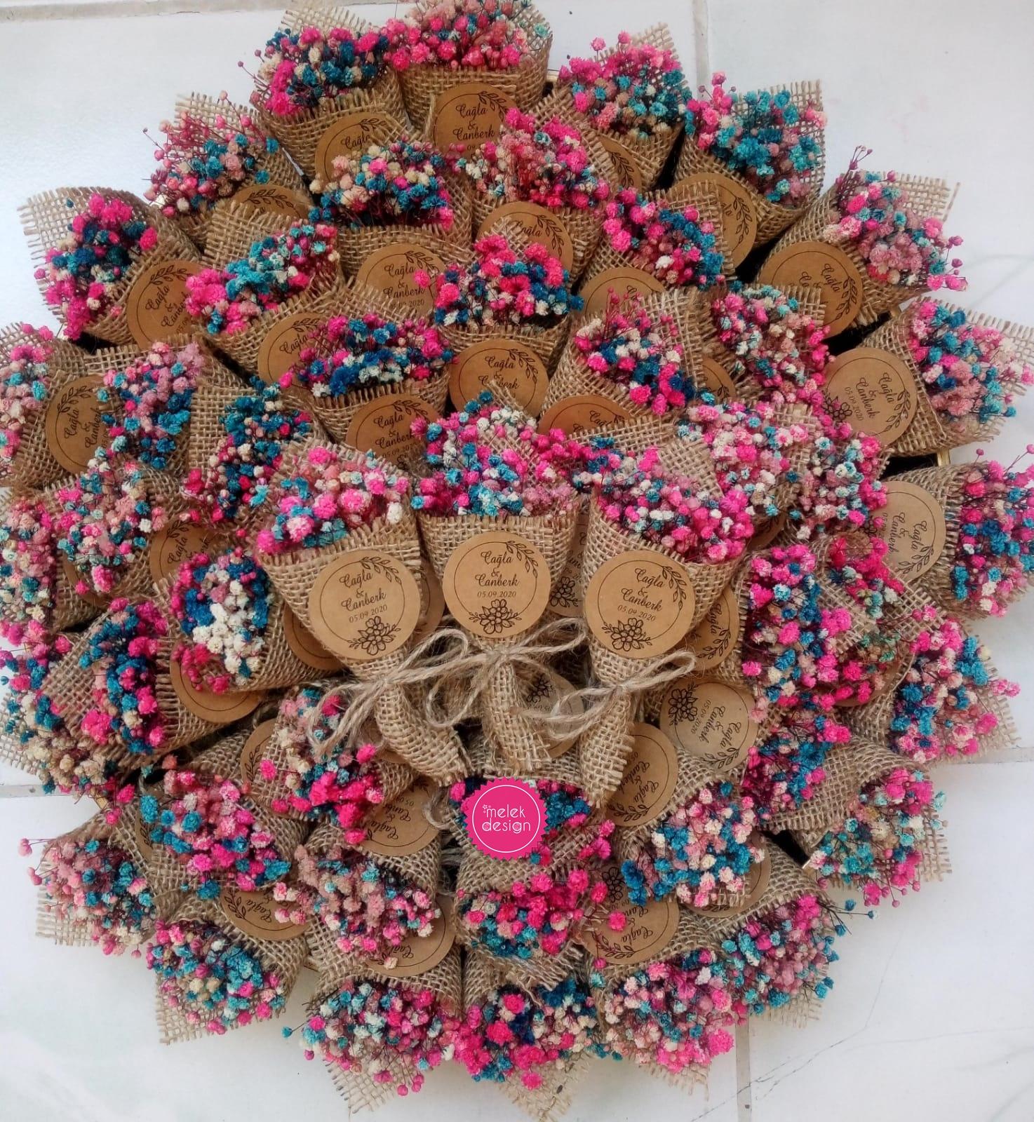 magnet buket yaratıcı nikah şekerleri